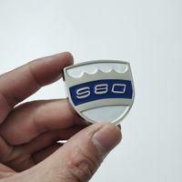 المعادن شعار s80 سيارة الجانب ويندوز ملصقا ل فولفو s80 d2 d2 d4 xc90 xc60 v50 c30 s90 s70 s60 xc70 xc40 t5 t6 t8 volvo sticker