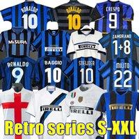 Finale 2009 Milito Sneijder Zanetti Retro Fußball-Jersey EtO'O Fußball 97 98 99 01 02 03 Djorkaeff Baggio Ronaldo Adriano Mailand 10 11 07 08 09 Inter Batistuta Zamorano