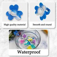 3 unids Push Bubble Sensory Fidget Anillo Fidgets Toys Simple Dimple Ansiedad de silicona Alivio de estrés, uno cada pequeño / med CCE10425