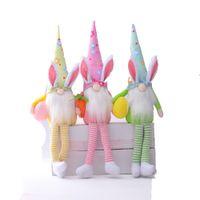 عيد الفصح الأرنب التماثيل فتاة غرفة ديكور هدايا قزم القزم المنزل محشوة الحلي أرنب النادرة دمى الدمى أفخم التماثيل JK2102XB