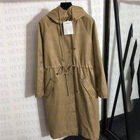 Diseñador Sudadera con capucha Abrigos para mujer Estilos largos Señoras Windbrayer Chaquetas Otoño de otoño e invierno ropa exterior