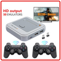 Super Console X HD 4K HDTV Sortie 64G / 128g Mini Console portable Arcade Kids Retro Game Emulator Console peut stocker 40000 Jeux