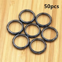 50pcs Fashion Grade AAA Quality 4 Mm Width Faceted Hematite Rings Band Sizes 5 Through 12 Men Womens Ring Jewelry