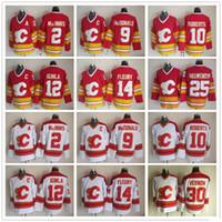 Calgary Flames 2 Al Macinnis 9 Lanny McDonald 10 Gary Roberts 12 Jarome Iginla 14 Teoren Fleury Joe Nieuwendyk 30 Mike Vernon Jersey