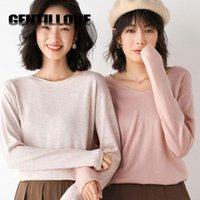 Women's Knits & Tees Jocoo Jolee Elegnat Harajuku Solid Oversized Pullovers Korean Long Sleeve Loose Sweater Casual Simple All-Match Knittin