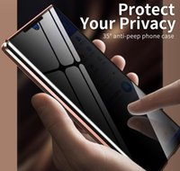 360 Manyetik Gizlilik Telefon Kılıfı Samsung Galaxy Note20 Ultra Anti-Peeping Durumda Darbeye Anti-Spy Metal Tampon Not 20 Ultra E Dyjtq
