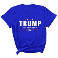 15 Arten Trump 2024 T-Shirt Brief Druck Rundhals T-shirt Casual USA Präsidentschaftswahlen Trump Kurzärmeliger Pullover LLA432