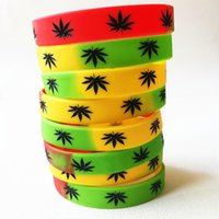 Charm Bracelets 3PCS High Quality Punk Silicone For Music Festival Party Freedom Muiticolor Wristband Bob Marley Fan Gifts