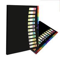 12 جيوب A4 مجلد الملفات الطلاب اختبار ورقة مجلد البلاستيك المحمولة المستند مجلد تصنيف مجلد (4 ألوان) بلدي INF0624 25 V2