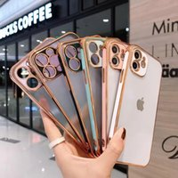 Matte Clear Case for iPhone 12 Pro Max XR XS 11 8 7 Plus Shockproof Soft TPU Gel Protective Cover With Camera Protection