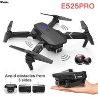 الطائرات بدون طيار 2021 E525 بدون طيار 4 كيلو 1080 وعاء hd زاوية واسعة الزاوية المزدوج كاميرا wifi fpv تحديد المواقع الاستفقاء طوي rc هليكوبتر dron لعبة هدية