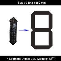 """HD 52 """"pollici bianco rosso giallo colore verde 7 / sette cifre del segmento modulo display a LED per segnali di prezzo del gas a LED personalizzati"""