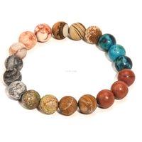 10 ملليمتر الحجر الطبيعي الخرز متجمد العقيق السواحل أساور غالاكسي الكون سوار معصمه الأزياء والمجوهرات للنساء الرجال هدية الإرادة والرملية
