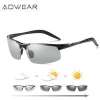 Aowee Area PhotoChrasses الرجال النظارات الشمسية الاستقطاب اليومي ليلة القيادة الحرباء نظارات الألومنيوم المغنيسيوم نمط الرياضة النظارات الشمسية X0803