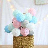 Stringa Qyjsd 6m Garland LED Ball Cotton Stringa in cotone per Halloween albero di Natale matrimonio festa di compleanno festa della camera da letto fata luci all'aperto