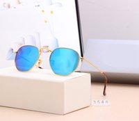 3548 Top Calidad Lente de vidrio polarizado Clásico Piloto Metal Máquina Gafas de sol Hombres Mujeres Holiday Moda Gafas de sol 6 Color
