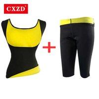 CXZD Femmes Taille Formatrice Minceur Gilet + Pant Neoprène Corset Sauna Shaper Pantalon Shaper Gilet Stretch Super Perdre Poids Contrôle du poids