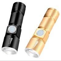 Torce a torcia zoomabile telescopica Torce LED XPE Q5 Caricabatterie USB Torcia con batteria 18650 3 Modello Mini lampada in alluminio impermeabile 137 W2