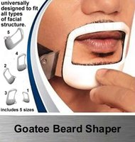 New Hombres herramienta Guía de plantillas Diseño Bigote Beard Goatee Shaving Shape Style Beard Peine PERFECT Forma Styling Tool 5pcs / Set
