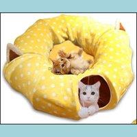 Cat Suplementos para mascotas Home Gardencat Camas Muebles Túnel de perro Cama con estera Metacrafter Color