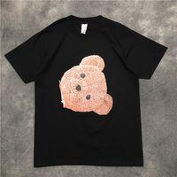 2021 Новые Мужчины Роскошный обезжиренный медведь футболки Футболка Хип-хоп Скейтборд Улица Хлопок Футболки Tee Top Kenye S-XXL # N205 YYBT