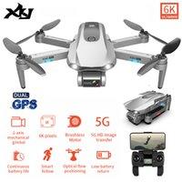 XKJ GPS Drone Profesyonel 6 K Ile Çift Kamera Fırçasız Motor Katlanabilir Quadcopter Uzun Pil Ömrü Hediye Için RC Dron