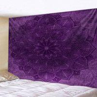 Tapestries Large Size Wall Mandala Tapestry Bohemian Hanging Art Carpet Blanket Yoga Mat Decorative Vintage Purple For Home
