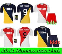 Monaco Maillots de Foot Ben Yedder Soccer-Trikots 2021 Glik Golovin Jovetic Gelson Fofana Tchouameni Keita Balde Football Hemd + Kinder
