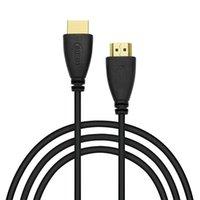 Conectores de cables de audio al por mayor 100pcs / lot 10m Cable de alta velocidad con Ethernet para HDTV, reproductores de DVD y cajas de satélites