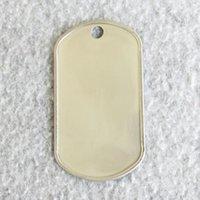 1000pcs / lot acier inoxydable Bord de curling Tags Tags de chien de roulement Edge Armée Tags adaptés aux machines de poinçonnage en gros
