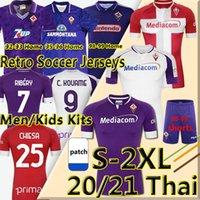 2020 2021 ACF فيورنتينا الرجعية لكرة القدم الفانيلة Ribery Chiesa 1992 93 95 96 98 99 2000 Batistuta Home Men Kids Kits Maillot de Football Shirts