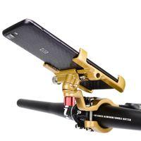 PROMEND 360 Titulaire de téléphone portable à vélo rotatif Porte-vélos réglable en aluminium SUPPORT DE TÉLÉPHONE DE TÉLÉPHONE MTB Non-SLIME