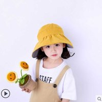 Caps & Hats Children Empty Top Cap Girl Mum Summer Sunscreen Sunshade With Big Visor Beach Sun Hat For Travel C212