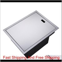Invisible Kitchen Sink 304 Stainless Steel Single Hidden Kitchen Sink Drain Basket And Drain Pipe Ship By 2Dgn5 0Tzqn