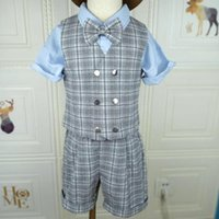 Clothing Sets Kids Baby Boys Vest+overalls Shorts Set Toddler Boy Outfit Summer Auttumn Suit Wedding Birthday Party