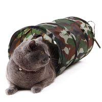 Toys Cat Toys Pet Tunnel Play Camouflage Color Смешной длинный котенок игрушечный разборчивый объемный диаметр 25см