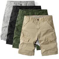 Men's Shorts Summer Workwear Loose Sports Pants Five-point Multi-pocket Casual Sweatshorts Plus Size