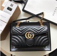 Gucci Designer di lusso nuovo stile marmont borse a tracolla donne gg catena oro catena croce body borse in pelle borse in pelle borse borse femmina