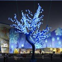 Новый Светодиодный Искусственный вишневый Blossom Свет Рождественский Свет 1152 Шт. Светодиодные лампы 2M / 6.5FT Высота 110 / 220VAC Rainproof Наружное использование
