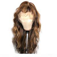 Paff кружевные фронтальные волосы парики для волос для женщин волна кузовной волны цветные цветные омбурские медовые блондинка бразильский полный кружевной парик реми
