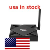 USA in magazzino Tanix TX6S Android 10 Scatola TV Allwinner H616 4 GB 32 GB 2.4 GHz 5GHZ WiFi 6K Streaming Lettore multimediale
