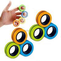 1PC Funny Fidget Spinner Magnetische Singen Bracelet magnétique Bague Unzip Toy Anti Stress Fige des jouets Hote Whells Stress Stress Reliever Toys Fy7615