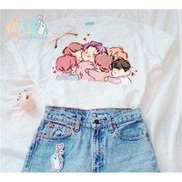 HAHAYULE BTS KPOP T Shirt Suga v Jimin Album Stampa dal vivo K Pop BTS Camicie Hip Hop BTS K-POP Tshirt manica corta 210315
