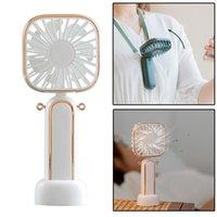 Electric Fans Mini Mosquito Repellent Fan USB Built-in Battery Hang Neck Flip Air Cooling Portable Handheld Ventilator