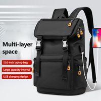 Backpack Fashion Men Multifunctional Waterproof Backpacks 15.6 Inch Laptop Bag Man USB Charging Travel Large Capacity X135C