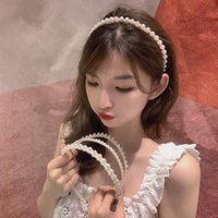 Hair Accessories Style Ladies Korean Simple Fashion Temperament Pearl Thin Band Crushed Super Fairy Hairpin Jewelry