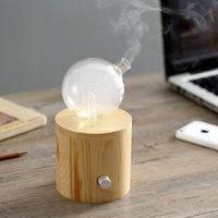 Humidifiers Waterless Essential Oils Diffuser Nebulizer Wooden Glass Aromatherapy Aroma Fragrance Without Water Vaporizer For Home