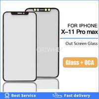 الجبهة الشاشة الخارجية الزجاج الخارجي مع oca الغراء ل فون x xs ماكس xr 11 11pro ماكس شاشة lcd اللمس عدسة استبدال زجاجي