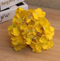 Simulierte Hortensie-Head Erstaunliche bunte dekorative Blume für Wedd Party Luxus Künstliche Hortensie Seide DIY Blume Dekoration 164 S2