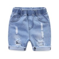 Shorts Summer Kids Baby Girls Boys Jeans Short Pants Toddler Ripped For Cotton Denim 1-5Y